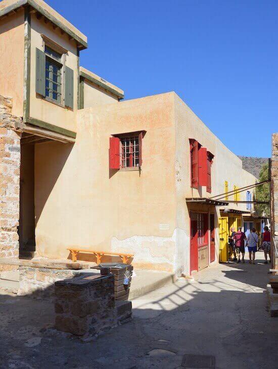 Spinalonga: le casette ricostruite della fortezza