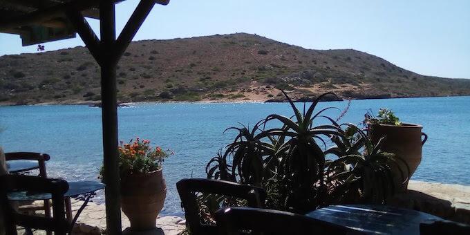 Spinalonga: vista dalla terrazza del bar
