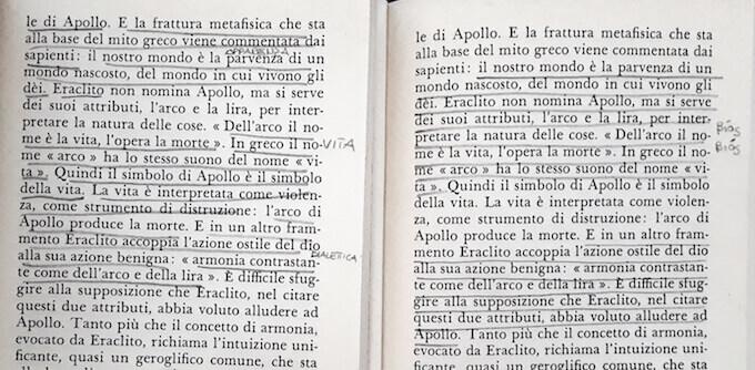 """Giorgio Colli, """"La nascita della filosofia"""", Adelphi: pagina 41"""