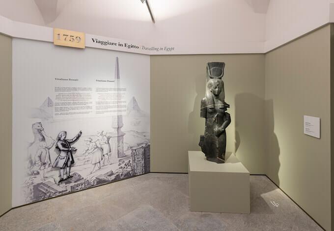 Museo Egizio di Torino: sala con Iside