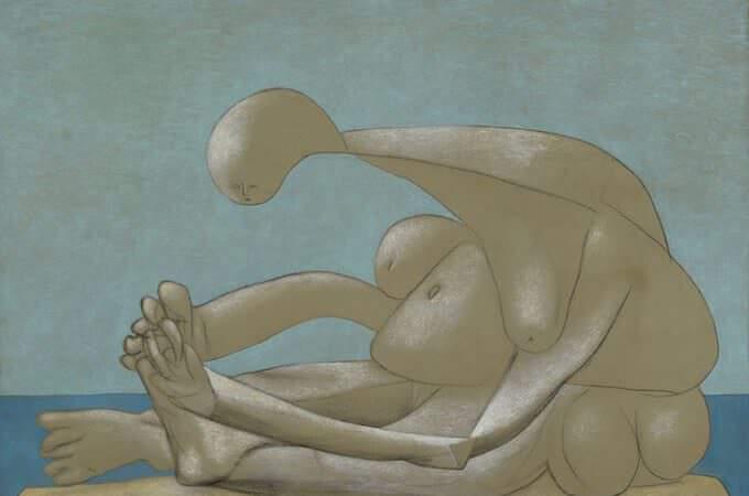 Pablo Picasso, Femme assise sur la plage