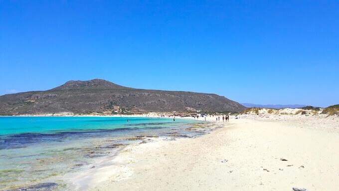 La spiaggia di Elafonisos in Laconia (Peloponneso)