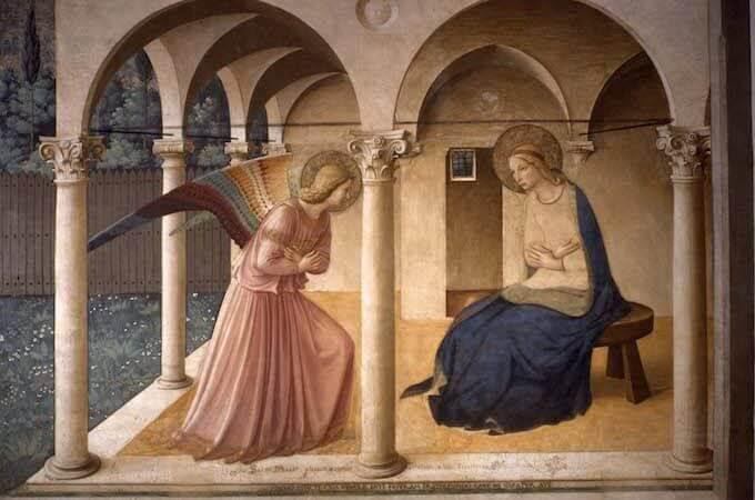 Beato Angelico, Annunciazione, Museo di San Marco, Firenze