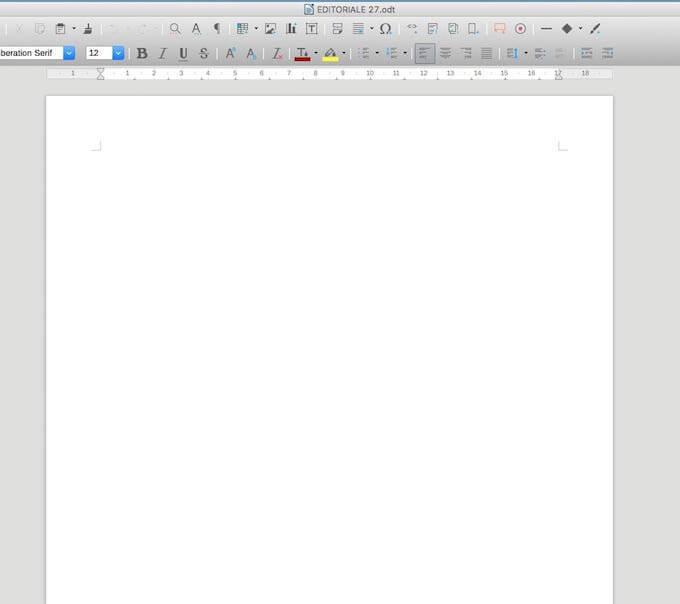 Blocco della pagina bianca