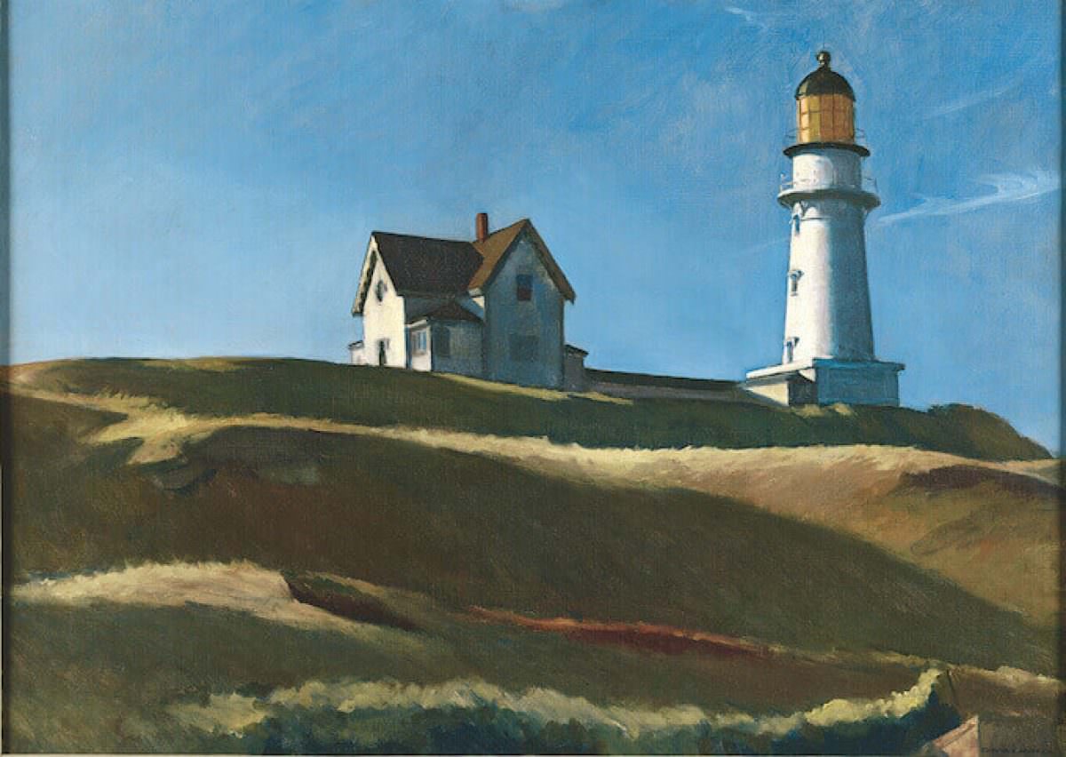 Image: Edward Hopper, Lighthouse Hill, 1927, oil on canvas, 73.8 x 102.2 cm, Dallas Museum of Art, Gift of Mr and Mrs Maurice Purnell, © Heirs of Josephine Hopper / 2019, ProLitteris, Zurich; Photo: Dallas Museum of Art, photo by Brad Flowers