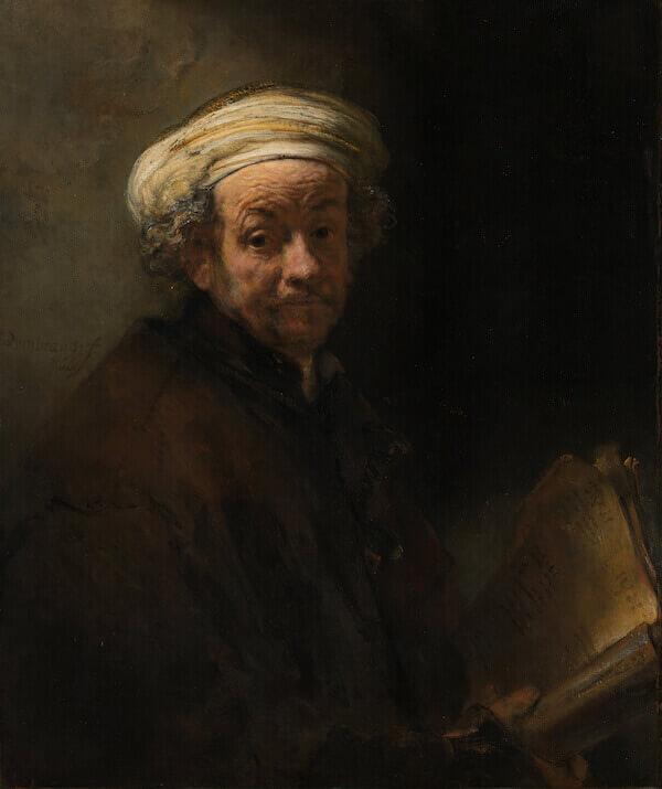 Rembrandt, Autoritratto come san Paolo, 1661 olio su tela, Amsterdam, Rijksmuseum