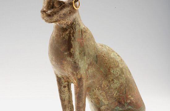 Statuetta - reliquiario a forma di gatto, bronzo, Coll. Morando. Epoca Tarda - Epoca Tolemaica (664-30 a.C.). Civico Museo Archeologico di Milano