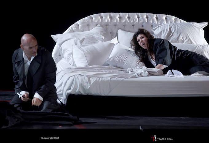 """Michael Fabiano e Marina Rebeka ne """"La traviata"""" di Verdi. Foto © Javier del Real   Teatro Real"""