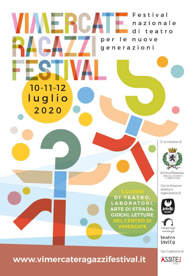"""Locandina del """"Vimercate Ragazzi Festival"""" 2020"""