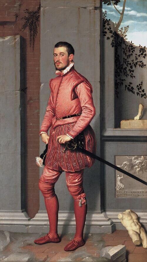 Giovan Battista Moroni, Il cavaliere in rosa
