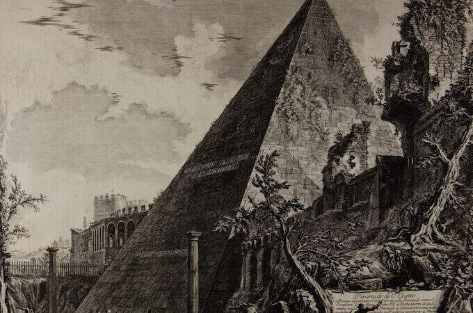 Giambattista Piranesi, Piramide di Caio Cestio