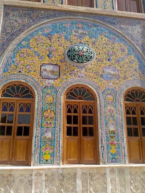 Palazzo Golestan a Teheran: dettaglio della facciata