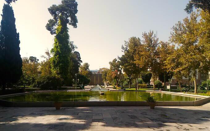 I giardini del Palazzo Golestan a Teheran