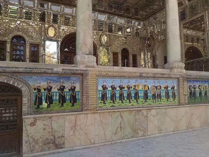 Palazzo Golestan a Teheran: dettaglio della loggia