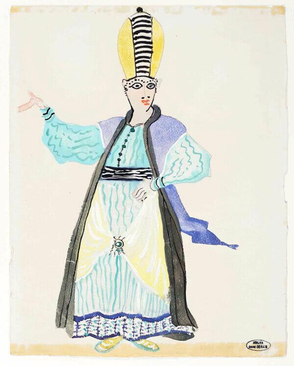"""André Derain, Bozzetto per """"Il ratto del serraglio"""" (1951)"""