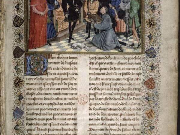 Jean Wauquelin presenta la sua opera a Filippo il Buono