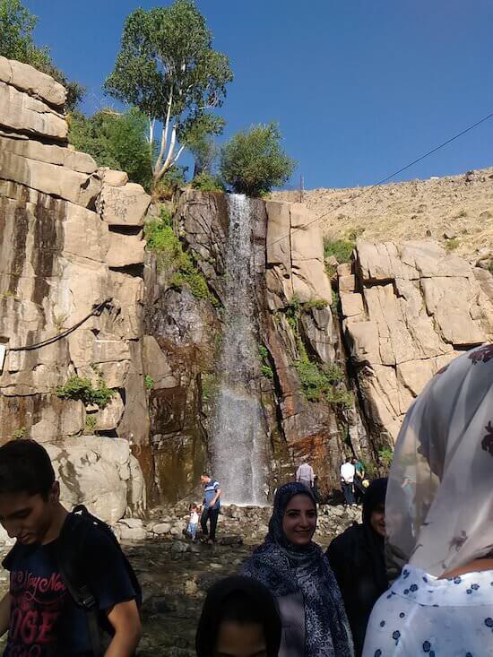 La cascata di Ganjnameh
