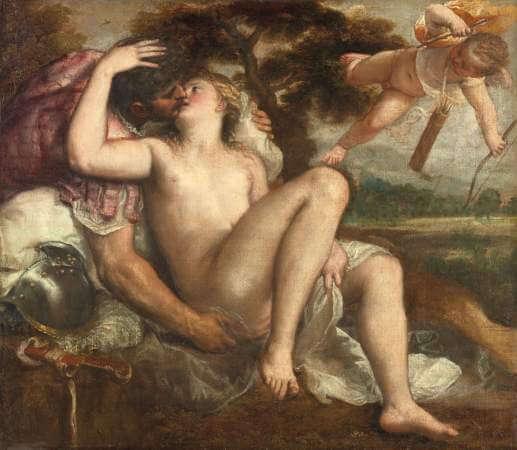 Tiziano Vecellio e bottega, Marte, Venere e Amore
