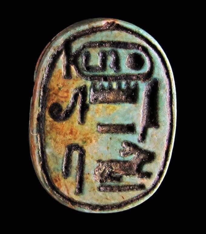 Scarabeo con il prenome della regina Hatshepsut