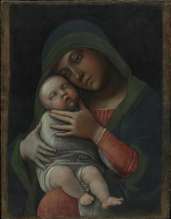 Andrea Mantegna, Madonna con Bambino, Museo Poldi Pezzoli, Milano