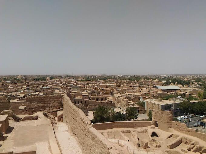 Vista di Meybod dalla cittadella Narin Qal'eh