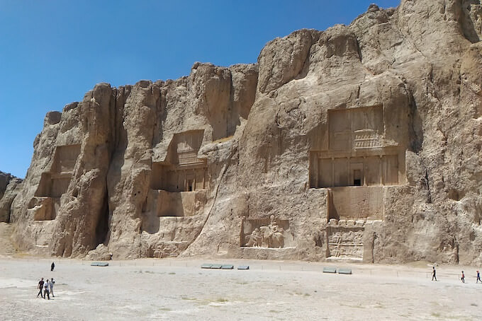 Naqsh-e-Rostam: tombe rupestri
