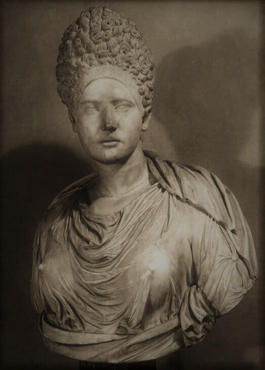Busto di matrona romana agli Uffizi