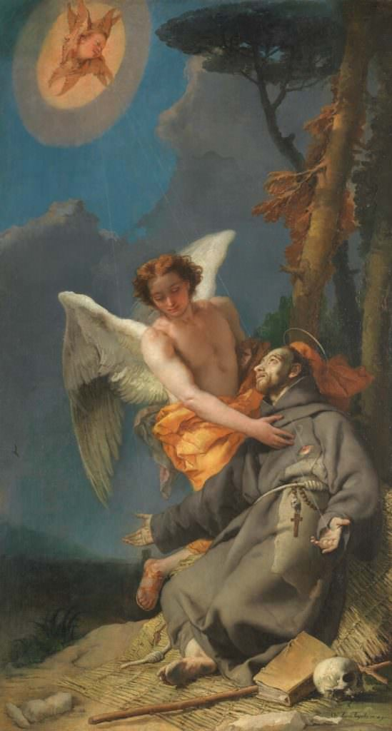 Giambattista Tiepolo San Francesco d'Assisi riceve le stimmate