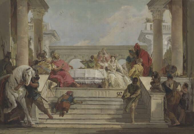 Giambattista Tiepolo, Il banchetto di Cleopatra