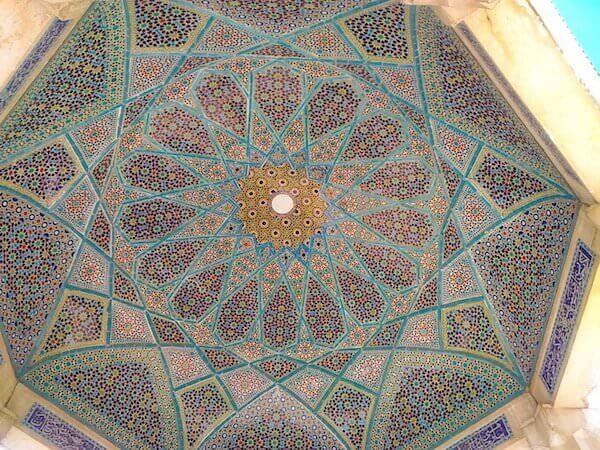 La cupola della tomba di Hafez a Shiraz