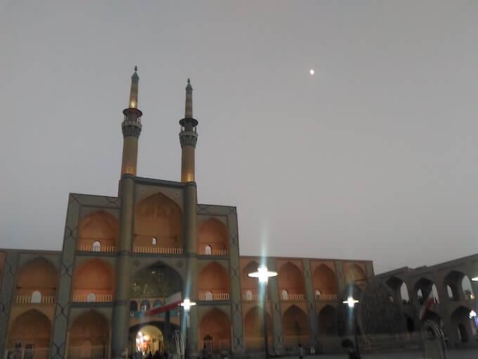 La moschea sulla Piazza Amir Chakhmaq di Yazd