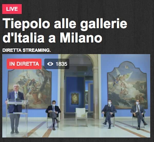 Presentazione della mostra di Tiepolo alle Gallerie d'Italia