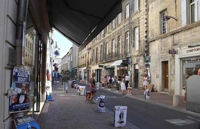 Avignone: verso il Palazzo dei Papi