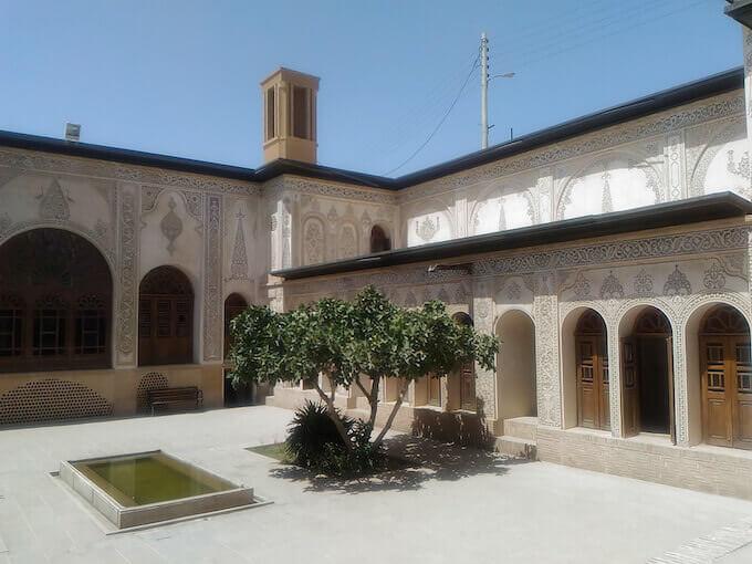 Un cortile a Kashan