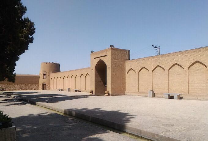 Kashan: ingresso del giardino Fin