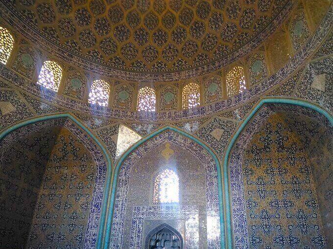 Isfahan: interno della Moschea Lotfollah