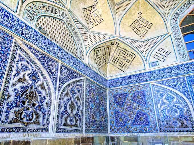 Isfahan: decorazioni della Moschea del Venerdì