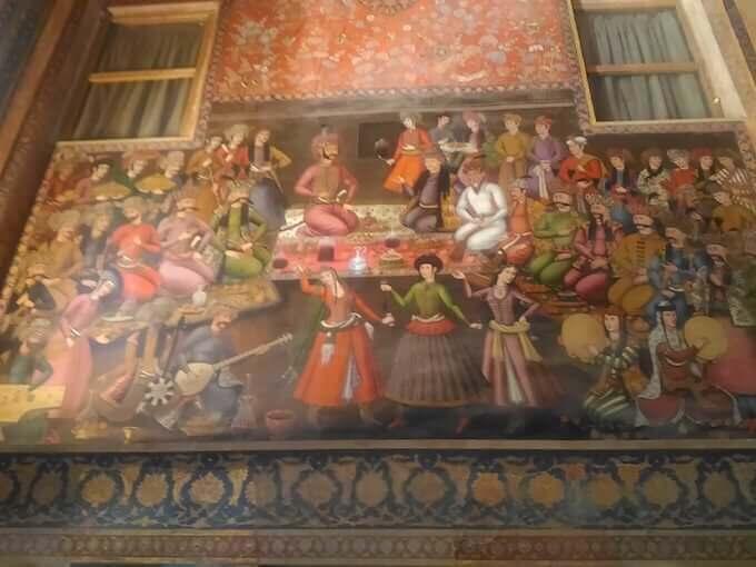 Affreschi del Palazzo Chehel Sotun a Isfahan