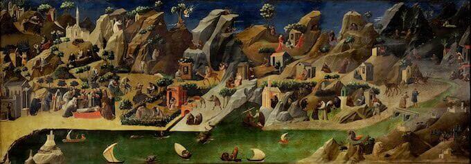 Beatro Angelico, Tebaide, Galleria degli Uffizi