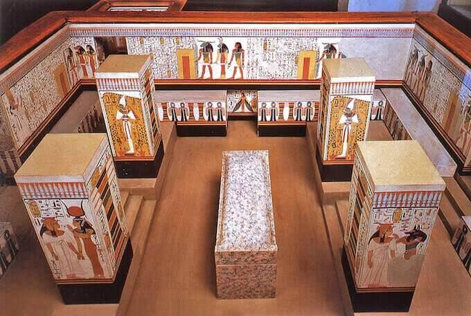 Modellino della tomba di Nefertari