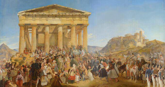 Nikolaos Ferekidis, L'ingresso del re Ottone di Grecia in Atene