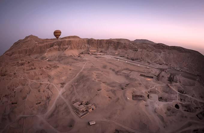 Deir el-Bahari dall'alto