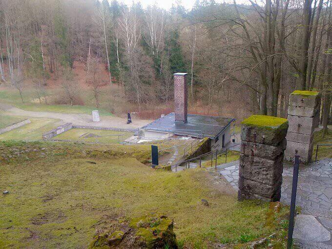 Il crematorio del campo di Flossenbürg