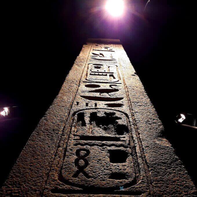 Statua di Seti II al Museo Egizio di Torino (particolare)