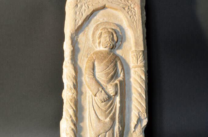 Frammento di monumento funebre di fine Trecento donato da Gian Pietro Serra al Palazzo Ducale di Mantova
