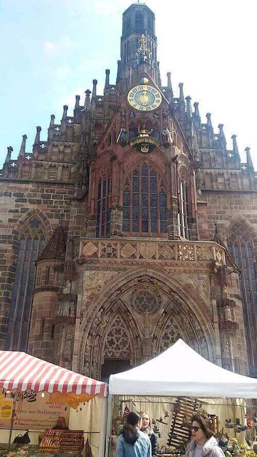 Norimberga: la facciata della Frauenkirche