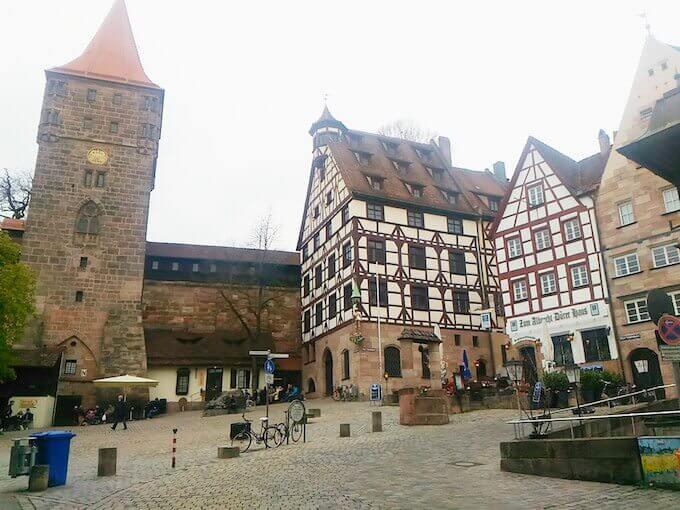 Parte alta della città vecchia di Norimberga