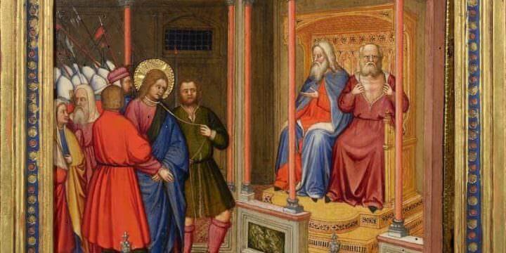 Altichiero da Verona (cerchia), Cristo davanti a Caifa