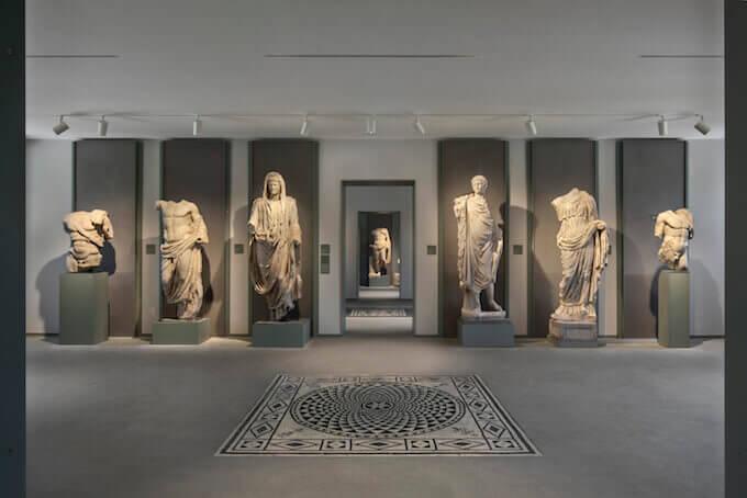 Sala centrale del Museo Archeologico di Aquileia