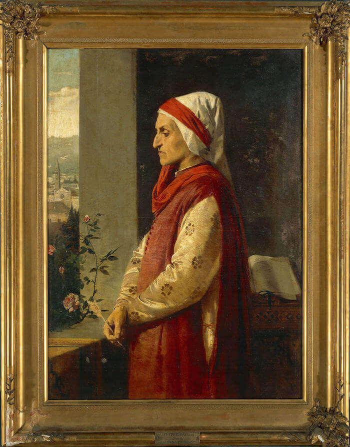 Angelo Pietrasanta, Ritratto di Dante Alighieri